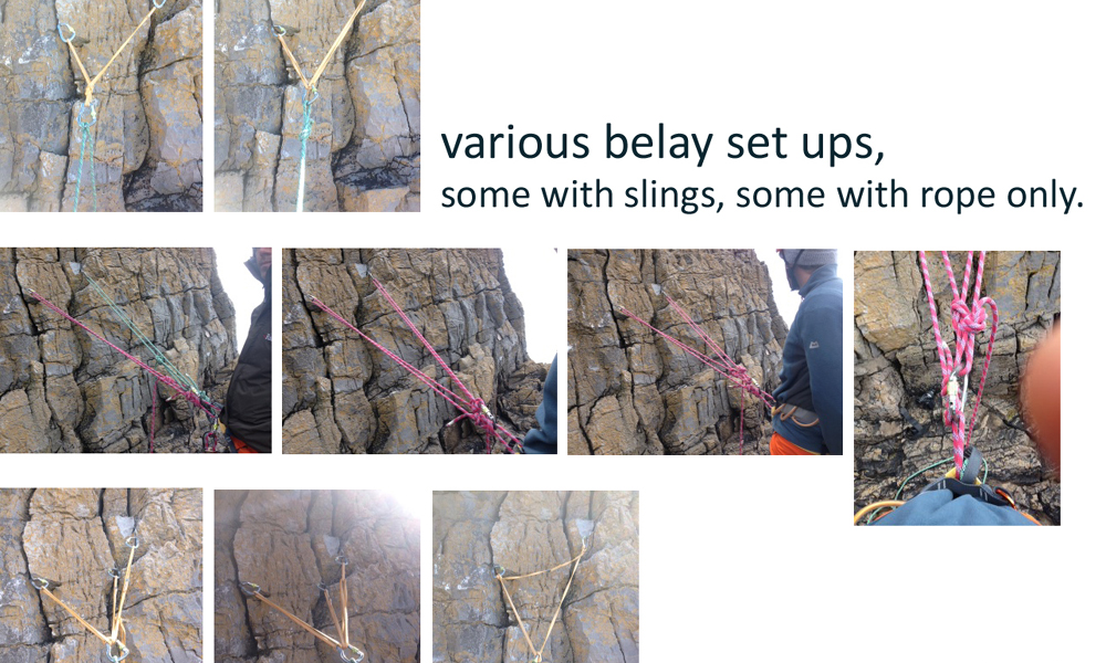 Lead climbing for Rock Climbing Instructor assessment