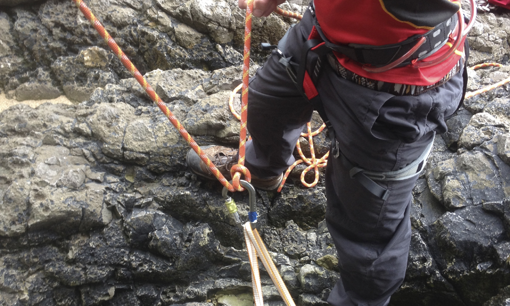 Bottom roping for Rock Climbing Instructor assessment