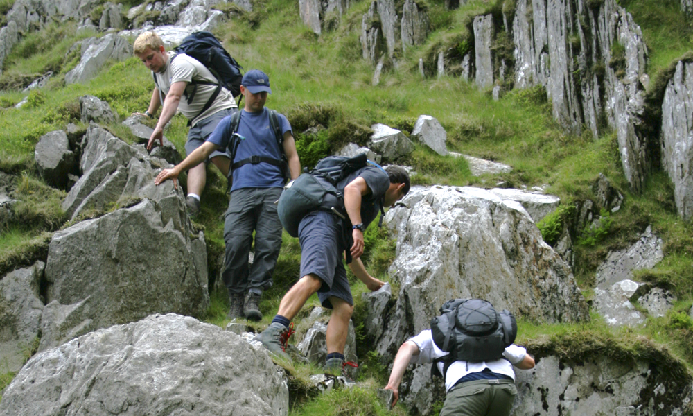 Steep ground skills: route planning/group management